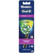 Oral-B Crossaction Electric Toothbrush Replacement Brush Head Refills, Black