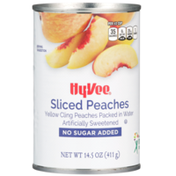 Hy-Vee Sweetened Sliced Yellow Cling Peaches In Water