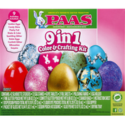 PAAS Egg Decorating Kit, Color & Crafting, 9 in 1