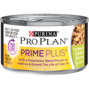 Purina Pro Plan Weight Control Senior Pate Wet Cat Food, PRIME PLUS Turkey & Giblets Entree