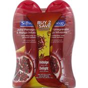 Softsoap Body Wash, Juicy Pomegranate & Mango Infusions