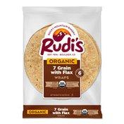 Rudi's Rocky Mountain Bakery Organic 7 Grain with Flax Wraps