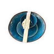 Le Cadeaux Antiqua Blue Chip & Dip Bowl Set