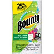 Bounty Print, Large Roll = 25% More Sheets  Paper Towels