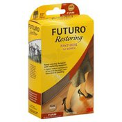 FUTURO Pantyhose, for Women, Brief Cut Panty, Plus, Nude, Firm Compression