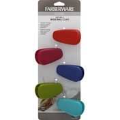 Farberware Bag Clips, Wide, Set of 5