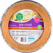 Food Club Pie Crust, Graham Cracker, 9 Inch
