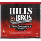 Hills Bros. Coffee, Ground, Dark Roast, 100% Columbian