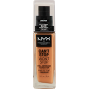 NYX Professional Makeup Full Coverage Foundation, Can't Stop Won't Stop, Cinnamon CSWSF15.5
