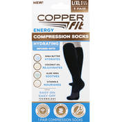 Copper Fit Compression Socks, Energy, Large/Extra Large