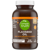 Simple Truth 1,000mg Flaxseed Oil Dietary Supplement Softgels