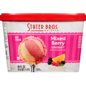 Stater Bros. Markets Sherbet, Mixed Berry