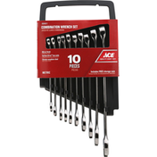 Ace Bakery Wrench Set, Combination, 10 Pieces