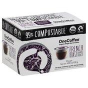 One Coffee Coffee, Organic, Dark Roast, French Roast, Single Serve Cups