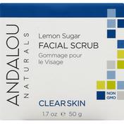 Andalou Naturals Facial Scrub, Lemon Sugar, Clear Skin