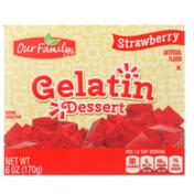 Our Family Strawberry Gelatin Dessert