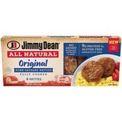Jimmy Dean All-Natural* Original Pork Sausage Patties, 6 Count