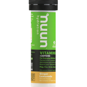 Nuun Vitamins + Caffeine, Tablets, Ginger Lemonade