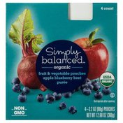 Simply Balanced Fruit & Vegetable Pouches, Apple Blueberry Beet Puree