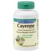 Nature's Answer Cayenne Pepper Fruit, Vegetarian Capsules