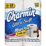 Charmin Bathroom Tissue, Unscented, Mega Roll, 2-Ply