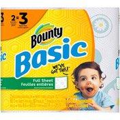 Bounty Basic Bounty Basic Paper Towels, Print, 2 Giant Rolls = 3 Regular Rolls Towels/Napkins