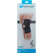 Donjoy Knee Wrap, Stabilizing Hinged, Black, S/M