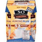 So Delicious Dairy Free Almond Milk Protein Plus Vanilla