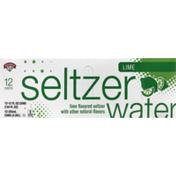 Hannaford Lime Seltzer Water