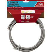 Ace Bakery Ice Maker Connector, Stainless Steel, Braided