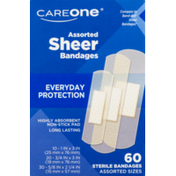CareOne Assorted Sterile Sheer Plastic Bandages