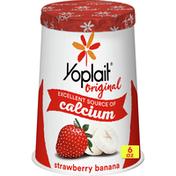 Yoplait Original Yogurt, Strawberry Banana, Low Fat Yogurt