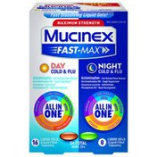 Mucinex® Fast-Max Max Strength, Day Severe Cold & Night Cold & Flu Liquid Gels (Packaging May Vary)