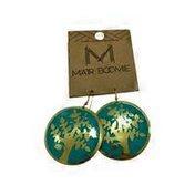 Matr Boomie Gold Brushed Metal Viti Earrings