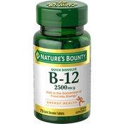 Nature's Bounty Vitamin B-12, Quick Dissolve, 2500 mcg, Quick Dissolve Tablets, Natural Cherry Flavor