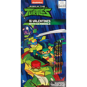 Paper Magic Group Valentines with Pencils, Rise of the Teenage Mutant Ninja Turtles, 3+