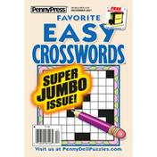 Penny Press Magazine, Favorite Easy Crosswords, Super Jumbo