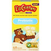 L'il Critters Powered by Vitafusion Bear Shaped Vanilla Cream Flavor Probiotic  Dietary Supplement