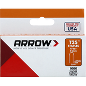 Arrow Staples, 9/16 Inches