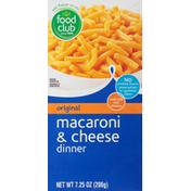 Food Club Macaroni & Cheese Dinner, Original
