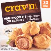Crav'n Flavor Cream Puffs, Chocolate, Mini