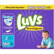Luvs Ultra Leakguards Diapers Size 2 160 count Diapers
