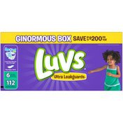 Luvs Ultra Leakguards Diapers Size 6 112 count  Diapers