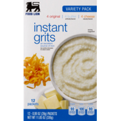 Food Lion Instant Grits, Variety Pack