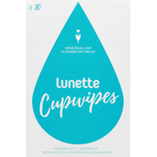 Lunette Cupwipes, Menstrual, Cleanser, On The Go