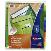 Avery Dividers, Plastic, Insertable, 2 Pocket