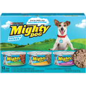 Purina Small Breed Gravy Wet Dog Food Variety Pack, Savory Steak, Rotisserie Chicken and Chicken, Egg & Bacon Country Platter flavor