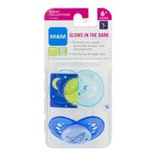MAM Night Collection Pacifiers Glows In the Dark 6+ Months - 2 CT
