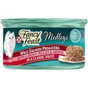 Purely Fancy Feast Elegant Medleys Salmon Primavera With Garden Veggies & Greens Canned Cat Food