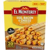 El Monterey Egg, Bacon & Cheese Breakfast Taquitos